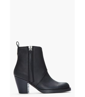 Acne Acne Studios Matte Black Leather Pistol Boots Black