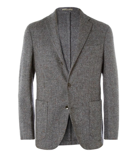 Boglioli Boglioli Dover Unstructured Flecked Wool Blazer Grey, White