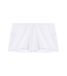 Skin Tulle-paneled organic pima cotton shorts White