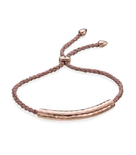 Monica Vinader Rose Gold Vermeil Esencia Friendship Bracelet - White Topaz - Rose Metallica Gold, Pink