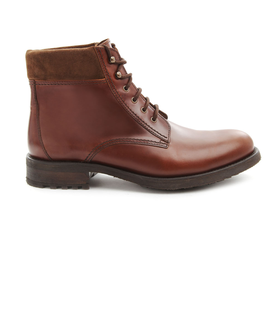 A.P.C. Rangers Brown Leather Boots Brown