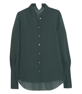 Theyskens' Theory Bamga crepe shirt Green