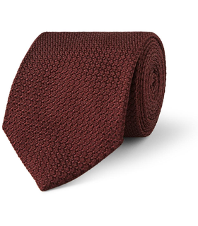 Drake's London Drake's Silk-Grenadine Tie Red, White