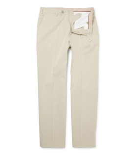 Loro Piana Loro Piana Straight-Leg Cotton Trousers White