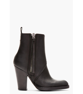 Acne Acne Studios Black Leather Colt High Ankle Boots Black