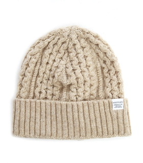 Norse Projects NORSE PROJECTS - Cable Knit Beige Beanie on Menlook.com Beige, White
