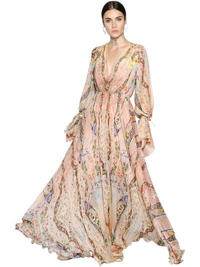 ETRO - FLORAL PRINTED SILK CHIFFON DRESS
