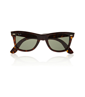 Ray-ban The Wayfarer D-frame acetate sunglasses Black