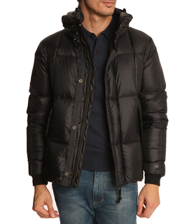 C.P. Company CP Navy Down Jacket with Removable Hood Blue