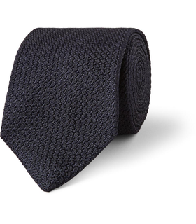 Drake's London Drake's Silk-Grenadine Tie Blue, White