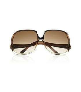 Balenciaga Square-frame acetate sunglasses Brown