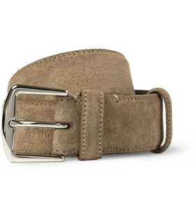Loro Piana Loro Piana Brown 3.5cm Suede Belt Brown, White