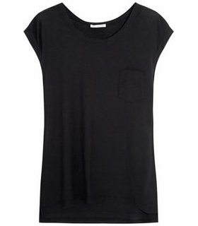 James Perse Slub cotton top Black
