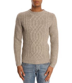 A.P.C. Island Andes Wool Beige Sweater Grey