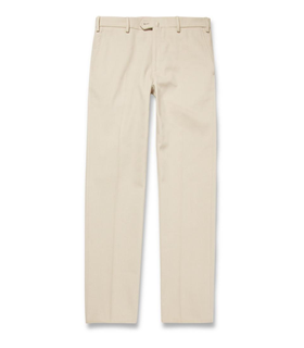 Loro Piana Loro Piana Regular-Fit Woven-Cotton Chinos White