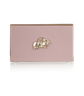 Charlotte Olympia Year of the Rabbit Pandora Perspex clutch Pink