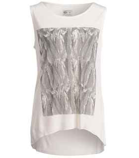 Crocker Gila Festival Feather Tank White