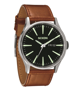 Nixon Sentry Leather Brown Watch Brown