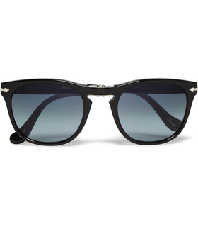Persol Square-Frame Foldable Polarised Sunglasses Black