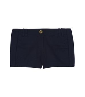 Tory Burch Ollie stretch-cotton shorts Blue