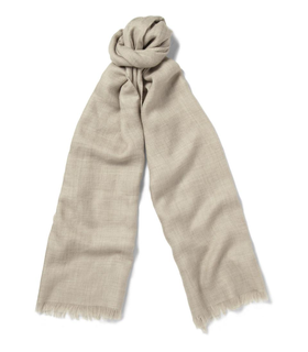 Loro Piana Loro Piana Cashmere and Silk-Blend Scarf White