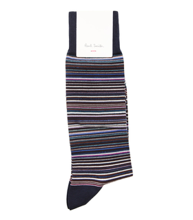 Paul Smith Accessories Navy Striped Socks Blue