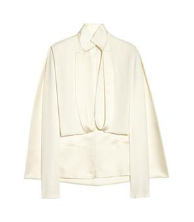 Esteban Cortazar Cape-back duchesse-satin and cady jacket White