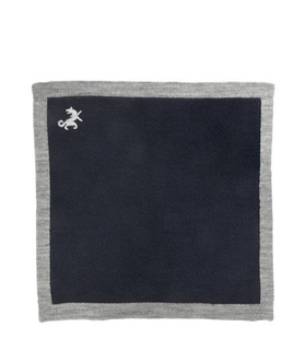 Tombolini TOMBOLINI - WOOL PIQUÉ POCKET SQUARE White