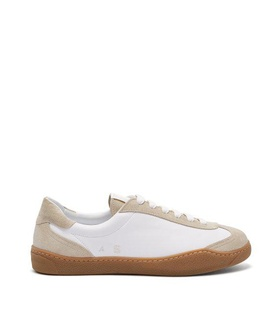 Acne Studios Acne Studios - Lars Leather And Suede Trainers - Mens - White White