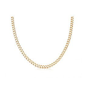 missoma Lucy Williams Gold Flat Curb Chain Necklace Gold