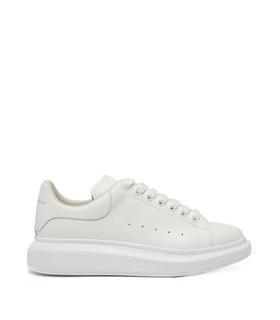 Alexander Mcqueen Alexander Mcqueen - Raised Sole Low Top Leather Trainers - Mens - White White