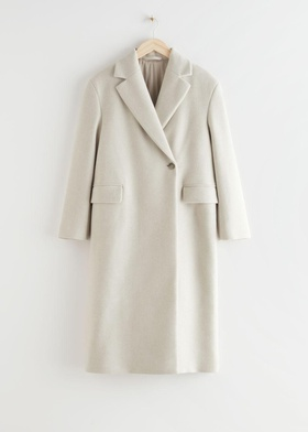 & Other Stories Relaxed Single Breasted Coat - Beige Beige