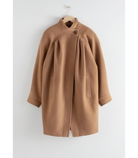 & Other Stories Oversized Single Button Coat - Beige Beige