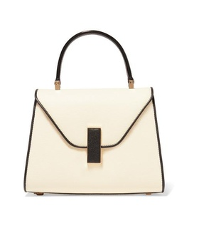 Valextra Valextra - Iside Mini Two-tone Textured-leather Tote - White White