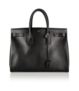 Saint Laurent Saint Laurent - Sac De Jour Medium Leather Tote - Black Black, White