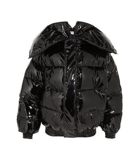 Vetements Vetements Woman Glossed Quilted Down Jacket Black Size M Black, White