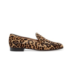 Gianvito Rossi Gianvito Rossi - Leopard-print Calf Hair Loafers - Leopard print Brown