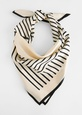 & Other Stories Striped Twill Scarf - Black Black