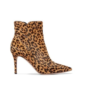 Gianvito Rossi Gianvito Rossi - Levy 85 Leopard-print Calf Hair Ankle Boots - Leopard print White, Brown