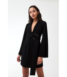 Gina Tricot Miri blazer dress Black, White