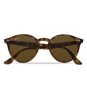 Ray-Ban Ray-Ban RB2180 Acetat Sunglasses Dark Havana/Dark Brown White, Brown