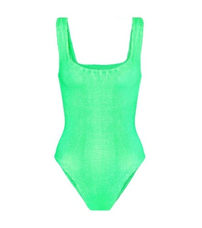 Hunza G Square-neck swimsuit Green