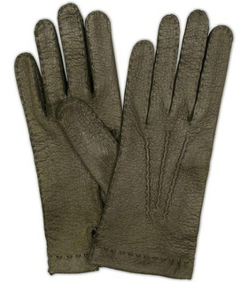 Hestra Hestra Peccary Handsewn Unlined Glove Forrest Green White, Green