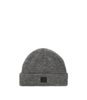 Acne Studios Acne Studios - Kansy Face Wool Blend Beanie Hat - Mens - Grey Grey, White