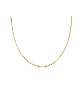 missoma Lucy Williams Gold Square Snake Chain Necklace Gold