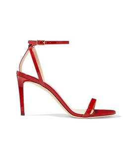 Jimmy Choo Jimmy Choo - Minny 85 Patent-leather Sandals - Red Red