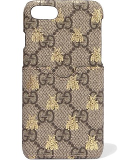 Gucci Gucci - Printed Coated-canvas Iphone 7 Case - Beige White, Beige
