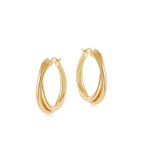 missoma Lucy Williams Gold Entwine Hoops Gold