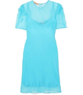 Maggie Marilyn Maggie Marilyn - + Net Sustain Take It Back Knotted Silk-organza Mini Dress - Blue Blue