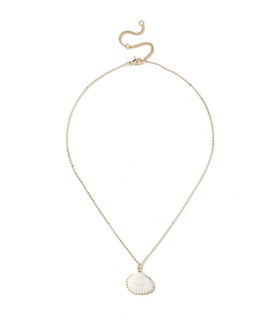 Gina Tricot Shell Ditsy Necklace White, Gold